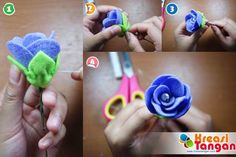 Tutorial Membuat Flowerhand Dari Kain Flanel
