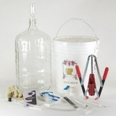 Strange Brew Complete Winemaking Starter Kit with 6 gallon Glass Carboy by Winemaking.net. Save 29 Off!. $105.75. Make Wine at home. Standard batch size is 6 gallons (30 bottles).. Contains Corks and Corker. Bottles sold separately.. Complete Winemaking Equipment Kit.. Ingredients sold separately.. Sorry this item Cannot Ship to AK, HI, Military or PO Boxes.. The Strange Brew Gold Complete Wine Making Equipment Kit includes:  7.8 Gallon Drilled Primary Fermenting Bucket with Drilled...