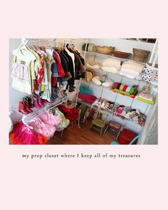 I love this cute little prop closet!