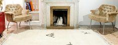 Upea Malika-matto on Beni Ourain -mattojen aatelia. #sukhimatot #beniourain #matto #sisustus #valkoinen #olohuone