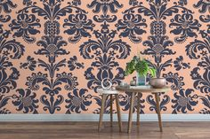 Another proposition for your interior: wall mural with vintage pattern #glamourchic #glamour #homedecor #homestyle #vintagestyle #interiordesignideas