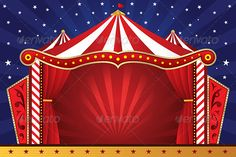 Buy Circus Background by artisticco on GraphicRiver. A vector illustration of a circus background Carnival Tent, Carnival Themes, Circus Tents, Circus Background, Background Vintage, Background Banner, Stage Background, Background Pictures, Circus Photography