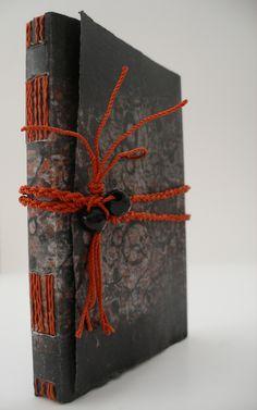 Collograph and monoprint book cover