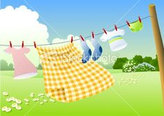 Hanging to dry on iStock