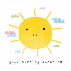 here comes the sun <3 good morning sunshine! Buenos dias!!! :)