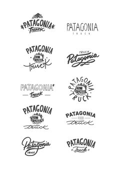 Logo and universe for PATAGONIA TRUCK. A food truck located on the base of Cerro Chapelco, San Martín de los Andes. Patagonia…