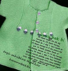 "jpg [ ""Bebe Yeleği, baby waistcoat, b… - Just DIY Baby Knitting Patterns, Arm Knitting, Knitting For Kids, Crochet For Kids, Baby Patterns, Knitting Ideas, Knitted Baby Cardigan, Baby Pullover, Baby Afghan Crochet"