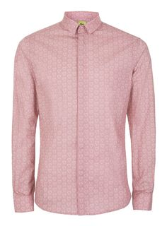 NOOSE & MONKEY Pink and White Heart Print Shirt