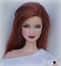 Red Hair Doll, Barbie Hair, Barbie And Ken, Barbie Clothes, Custom Barbie, Custom Dolls, Ooak Dolls, Barbie Dolls, Mattel Barbie