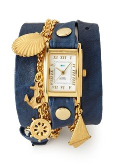 """LA MER COLLECTIONS Seaside Triple Wrap Watch  if anyone is interested I made a new board """"sailor girl style"""" and migrated all nautical inspired clothes and accessories there. check it out if that sounds like fun :)"""