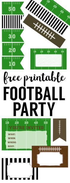 DIY cheap football party decorations for a super bowl party, football team party, birthday party, or baby shower. Shared by Career Path Design. Football Party Decorations, Football Themes, Football Team, Parties Decorations, Football Fever, Alabama Football, Wall Decorations, Football Season, College Football