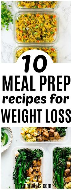 10 Meal Prep Recipes For Weight Loss. 10 Meal Prep Recipes For Weight Loss mealpreprecipes Here's a great list of 10 meal prep recipes for weight loss that are both healthy and delicious. Weight Loss Meals, Healthy Weight Loss, Losing Weight, Weight Gain, Reduce Weight, Snacks For Weight Loss, College Weight Loss, Vegetarian Weight Loss Plan, Quick Weight Loss