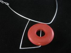 sterling silver with red stone necklace  Taylor Allen Jewelry :: Blog