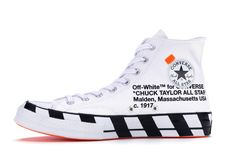 Buy and sell authentic Converse Chuck Taylor All-Star Hi Off-White shoes and thousands of other Converse sneakers with price data and release dates. Off White Converse, Off White Shoes, White Chuck Taylors, Galaxy Converse, All Star Shoes, Hype Shoes, Converse Chuck Taylor All Star, Massachusetts, Me Too Shoes