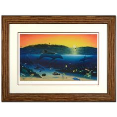 """Wyland! """"Warm Tropical Waters"""" Framed Limited Edition Lithograph, Numbered and Hand Signed with Certificate! List $1,530"""