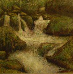 Fowey River Upstream Study by Gary Cedeira | Artfinder £400