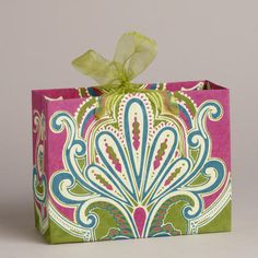 One of my favorite discoveries at WorldMarket.com: Small Venice Fountain Cherries Handmade Gift Bag