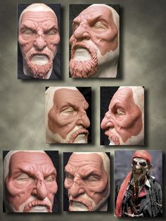 Ending process of the pirate prosthetic makeup done by Joe Lester (www.imageworksfx.com)