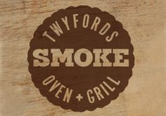 Menu design and logo for Twyfords Cafe in Suffolk for their Smoke Oven and Grill Range. #Logo #PrintDesign