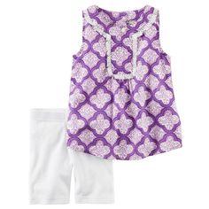 Baby Girl Carter's Mosaic Tunic & Bike Shorts Set, Size: 12 Months, Ovrfl Oth