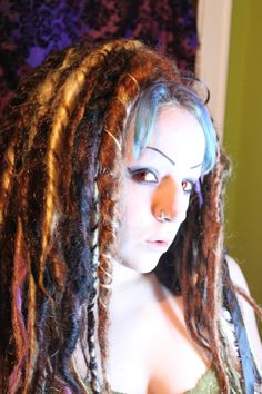 Tribal Witch Doctor Dread Falls CUSTOM Colors.  post apocalyptic SALE. $155.00, via Etsy.