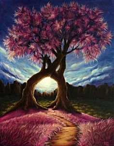 Garden lovers and nature lovers will love these beautiful Love Trees paint by number kit. Release your stress and Express your creativity. Shop hundreds of Paint by Number Kits for Adults at our store. Cadre Photo Diy, Diy Photo, Art Amour, Art Mural, Paint By Number, Tree Art, Diy Painting, Painting Canvas, Painting Trees