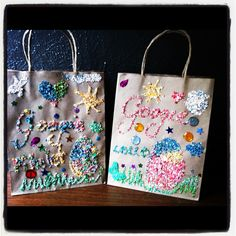 I will use reusable bags and have the kifs decorate them