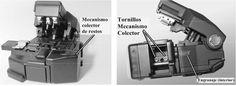 colector de restos cortadora de fibra y los tornillos del mismo