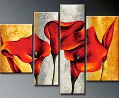 Hot Modern Abstract Huge Wall Art Oil Painting on Canvas No Frame T 5466 Modern Oil Painting, Oil Painting Flowers, Oil Painting On Canvas, Painting Frames, Lily Painting, Painting Art, Large Wall Canvas, Canvas Wall Art, Art Floral