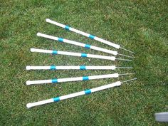 Stick-in-the-Ground Weave Poles