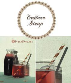 Erdbeer Sirup Cuisines Diy, Diy Kitchen, Syrup, Good Food, Good Things, Mirror, Drinks, Eat, Decor