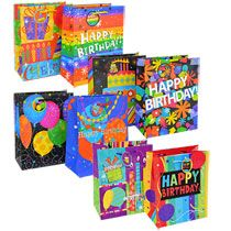 bulk voila medium birthday gift bags 2ct packs at
