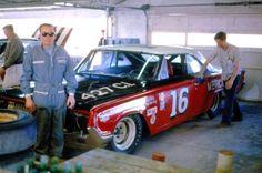Darel Dieringer's Bud Moore Mercury gets a polishing in the garage - February Real Racing, Nascar Racing, Auto Racing, Parnelli Jones, Late Model Racing, Richard Petty, Monster Energy Nascar, Mercury Cars, Nascar Diecast