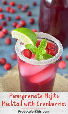 The holidays aren't complete without a festive mocktail! This combination of pomegranate juice, lime and mint offers a combination of sweet and tart. Mojito Mocktail, Mojito Recipe, Pomegranate Mojito, Mocktails For Kids, Recipes Kids Can Make, Pineapple Angel Food, Holiday Recipes, Christmas Recipes