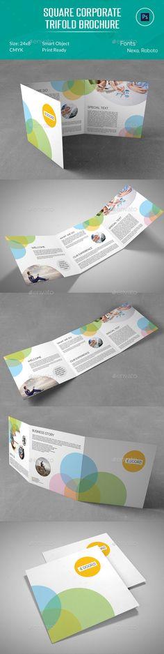 Square Corporate Trifold Brochure Design Tempalte Download: http://graphicriver.net/item/square-corporate-trifold-brochure/12937556?ref=ksioks