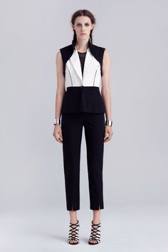 Tight and Tidy in Graphic Accent White on Black. Yes I Kaelen!  Kaelen Spring 2014 Ready-to-Wear Collection Slideshow on Style.com
