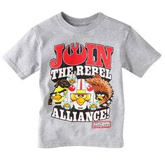 """""""Join the Rebel Alliance"""" Boy's Angry Birds Star Wars t-shirt"""