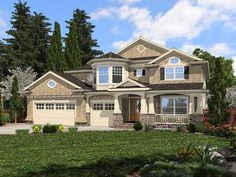 Desirable Shingle-Style Home Plan - 23469JD | Architectural Designs - House Plans **Love this floor plan **
