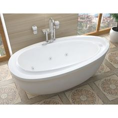 Mountain Home Bonette 38 in. x 71 in. Acrylic Whirlpool Jetted Freestanding Bathtub.  Mountain Home aims to deliver luxury and soothing comfort with a wide selection of elegantly crafted bathtubs.