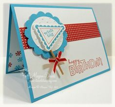 Pennant Parade to Make a Birthday Card by Stampin Meg - Cards and Paper Crafts at Splitcoaststampers