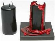 Black candle that bleeds...Pretty dope.