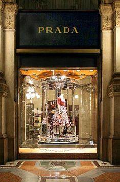 Best window display ever! luxury store, shop till you drop, miuccia prada, Shop Facade, Luxury Store, Retail Windows, Shop Till You Drop, Shop Fronts, Merchandising Displays, Love To Shop, Best Windows, Retail Therapy