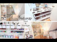 Unique Vanity.Craft Tour & Storage Ideas - LisaPullano