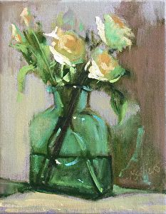 """""""Flowers For You"""" by Marjorie Hicks in the FASO Daily Art Show"""