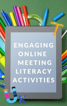 Make online learning fun with these engaging online meeting literacy activities. Lots of tips, ideas, and resources to use. #teachingonline #onlinelearningideas #GrowingBookbyBook #ece Kindergarten Daily Schedules, Preschool Literacy, Literacy Skills, Literacy Centers, Comprehension Activities, Phonics Activities, Writing Activities, Teaching Reading, Fun Learning