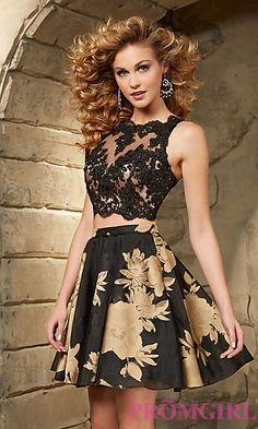 Illusion Sweetheart Two Piece Dress by Mori Lee at PromGirl.com