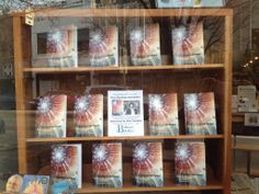 Our window display featuring Anne's new book, Journey to the Centre.