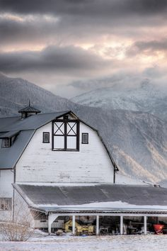 Fraser Valley, British Columbia by Josh Jenkins American Barn, Fraser Valley, Homesteads, Winter Time, British Columbia, Barns, Vancouver, Fields, North America