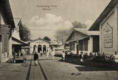 Station Tandjong Priok, Batavia ca 1910.