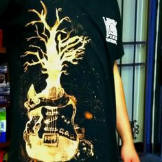 Tshirt design hand created with bleach. Soooo cool!!!!